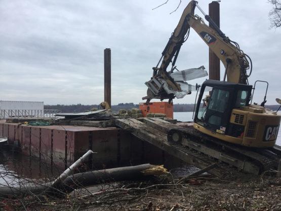 Hudson River Island Cabin Removal